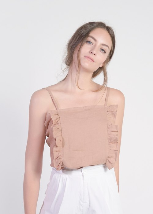 Top with ruffled detail