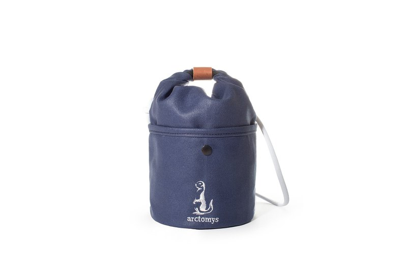Arctomys EABA mini - waxed canvas bucket bag - BLUE