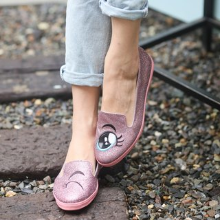 Mei pink sequins blinking loafers (adults)
