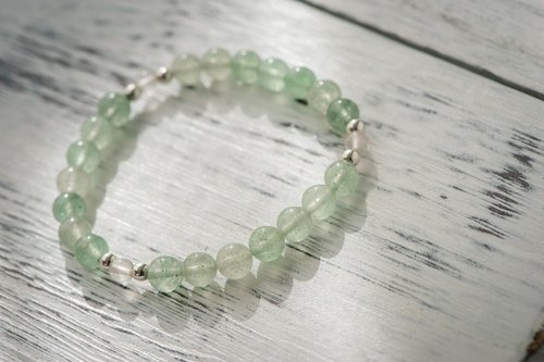 [Woody'sHandmade] Liang II. Green strawberry crystal bracelet B paragraph.