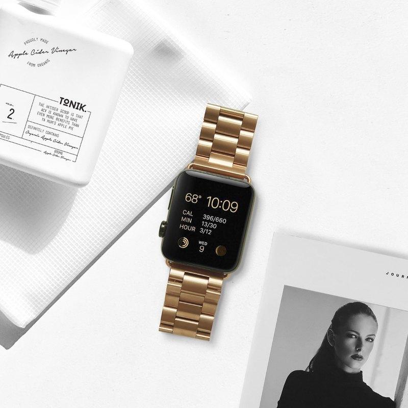 Apple watch series123456不鏽鋼金屬可拆式錶帶專屬客製雷雕刻字