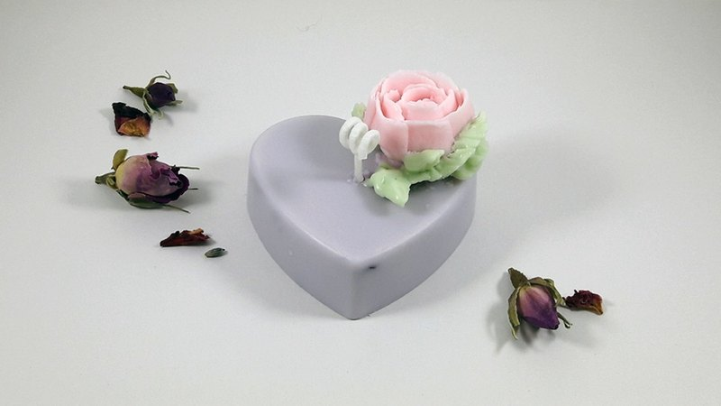 Valentine's Day・Sage Hirose Rose Blossom Flower Soy Candle 100g