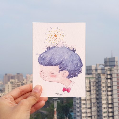 {139}iceberg boy,illustration postcard