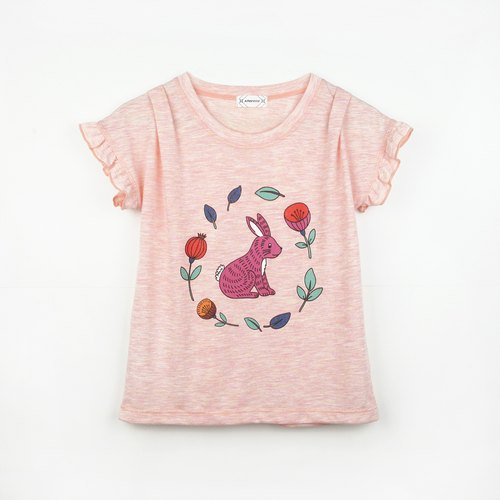 Parent-child child models - the flowers Bunny T-shirt / t-shirt