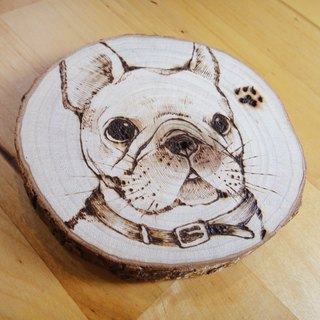 Customized pet wood coaster confirmation after the subscript area