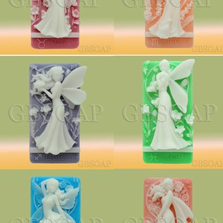 A full set of Zodiac Fairy handmade soap scented with Jo Malone Pear and Freesia