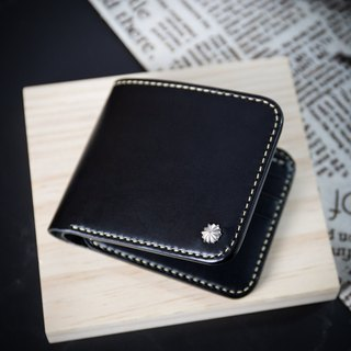 MISTER Italy top hip back leather wallet [hand seam wallet] customized lettering