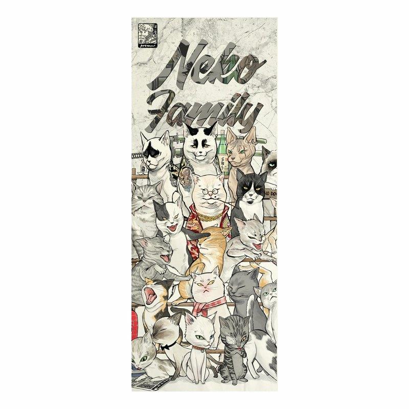 日本面料,印花帆布,貓族,黑幫貓,無框