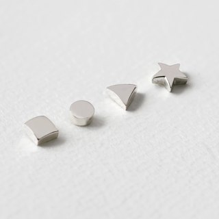 mini figure stud earrings Silver 925