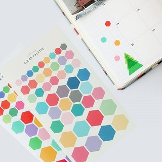 Livework-COLOR Geometric Sticker Set - Hexagon, LWK37408