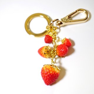 Playful Design Strawberry Keychain