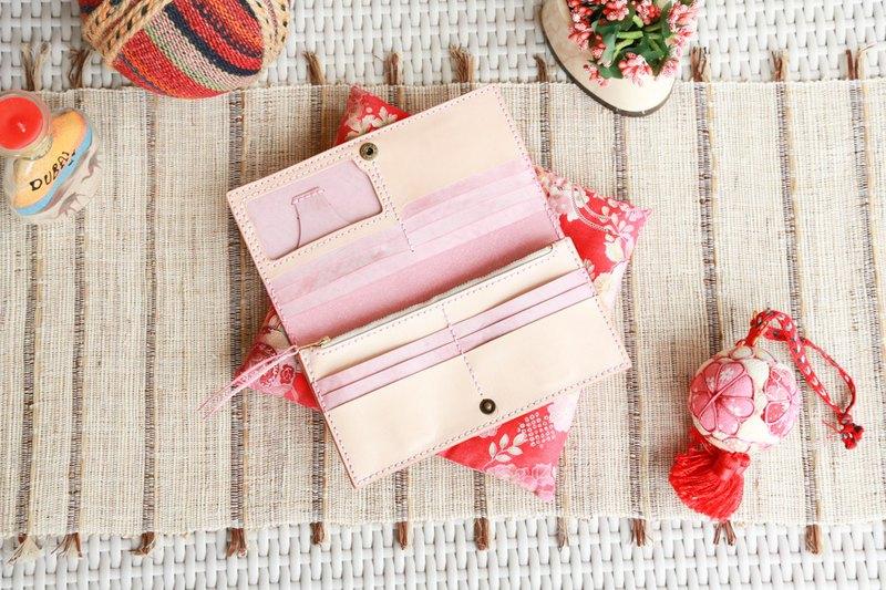 (HYKCWYRE) 皮革材料包, 皮製長錢包, 拼色錢夾手縫材料包