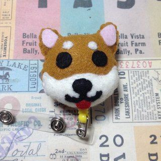 """Christmas gift"" Shiba Inu - Art retractable badge clips"