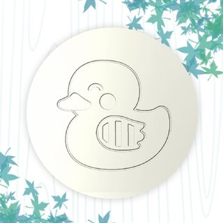 [customized gift] ceramic water coaster / cute animal, birthday gift DIY painting