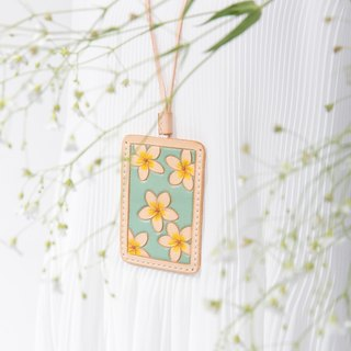 Flower's Shakacar Hand-Made Mint Green Vegetable Suede Leather Lanyard Hanging Card Holder