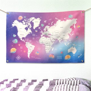 World map hangs cloth 幔 幔 幔 customized vast planet