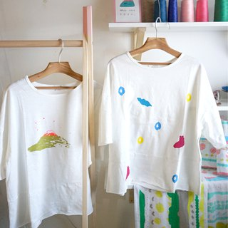 Rock, puppy Apo, giraffe, cat four cotton casual autumn handmade print seven-point sleeves