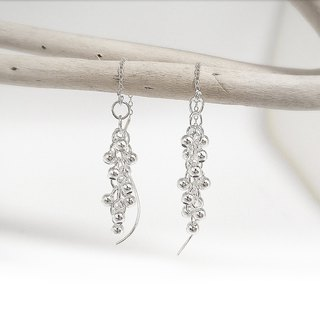 S Lee-925 silver hand made sweet fruit series - grape bunch vine ear chain / ear needle
