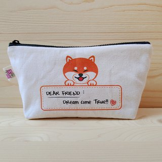 Customized_柴柴 message version large storage bag / large pencil case