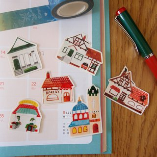 European small house sticker