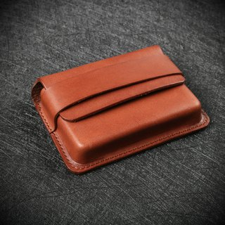 [NS leather goods] three-dimensional business card holder, card holder, short clip, large-capacity business card (free printing)