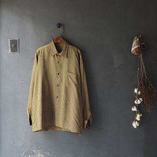 Hiroshima olive green light embroidery embroidery antique chiffon silk shirt top vintage