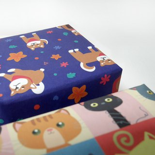 Gift packaging plus purchase area - assist gift wrapping paper packaging area
