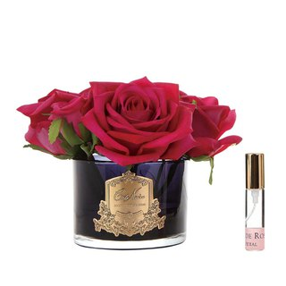 CoteNoire Fragrance Flower - Five Red Rose Fragrance Flowers
