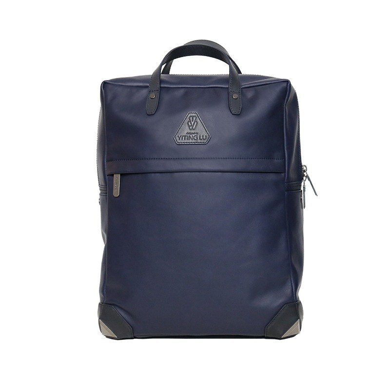 The exhibits are clear 【HANDOS】 Herry L. Classic Leather Backpack-Fog Blue