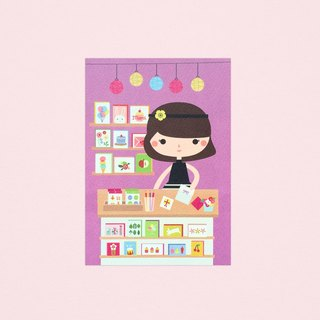 [Girls and Their Shops] sophia's card store - Postcard