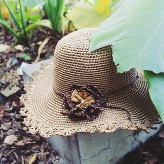 Handmade - lace flower visor - hand-woven - travel / light travel / birthday gift / secret