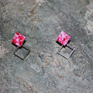 Pin earrings red clay Wife