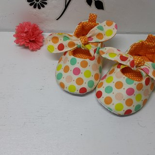 Colored little baby shoes