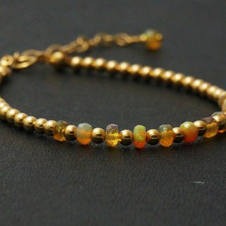 For the 妳 彩 color opal gold beads 14K gold 1 / 20GF gold bracelet bracelet light jewelry