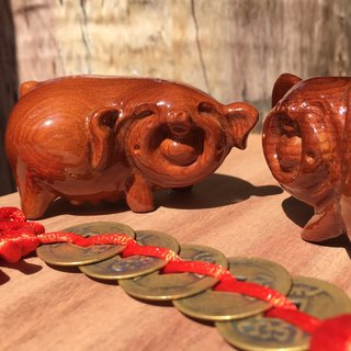 Wood for dolls - endless piglets (one pair)