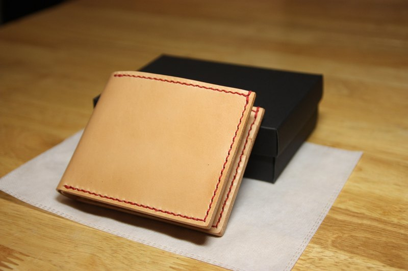 May Day Hands simple short clip leather money clip card holder leather free lettering