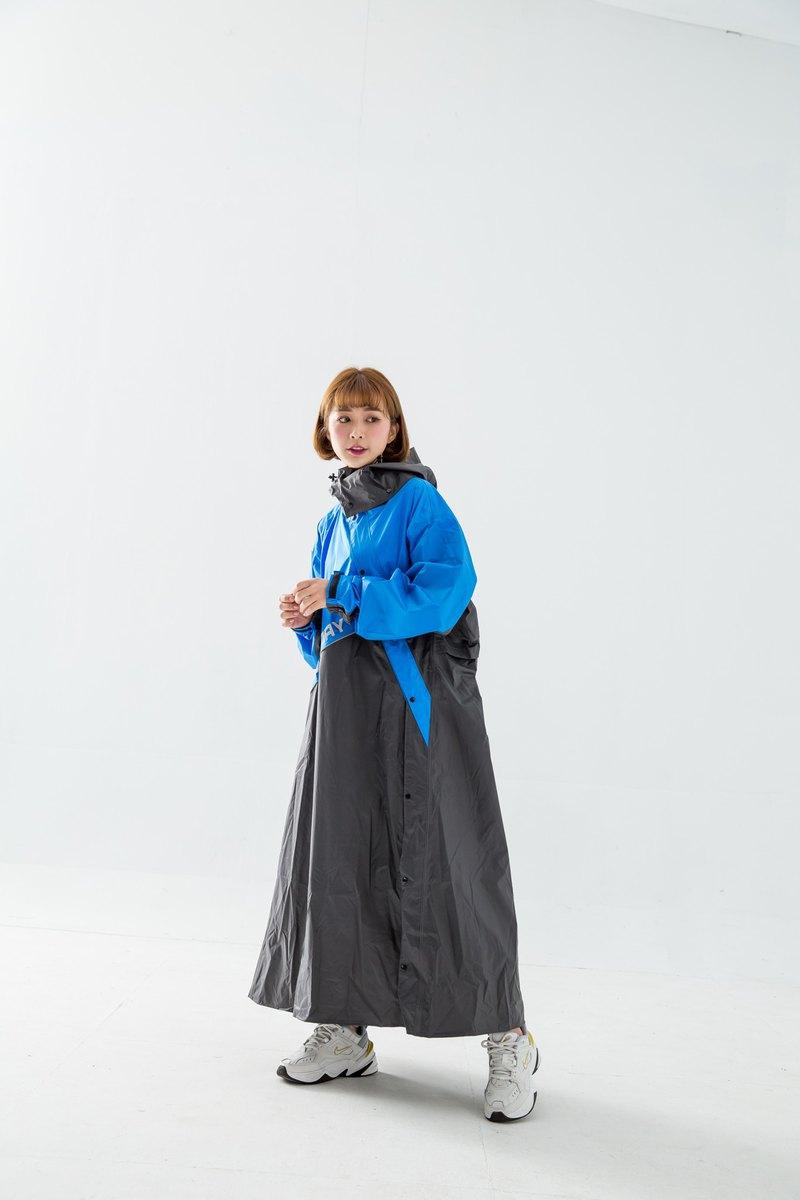 終結者斜開專利連身式風雨衣-寶藍