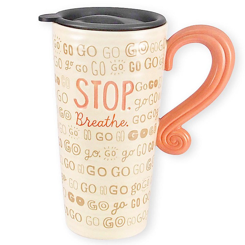 US Travel Mug Rushing Rushing [Hallmark-Text Gift]