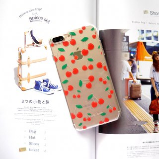 Summer cherry transparent phone case