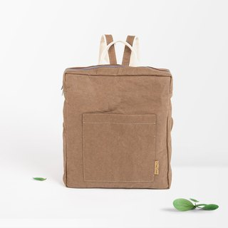 Washable Paper Unisex Backpack/Convertible Messenger Bag/Vegan leather Bag