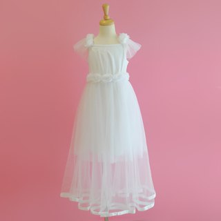 Tutu Studio_ White Rose Extended Length Dress Three Piece Set