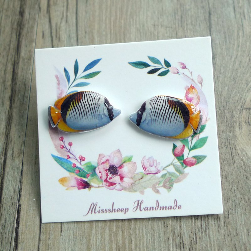 Misssheep-U75-Underwater World - Hand Made Earrings (Auricular / Transparent Ear Clips) (One pair)