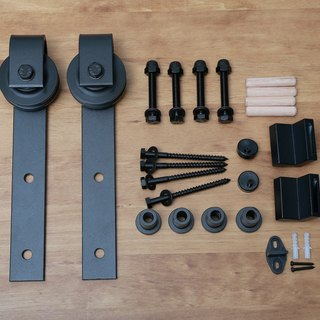 Barn door hardware accessories**Customizable track length**