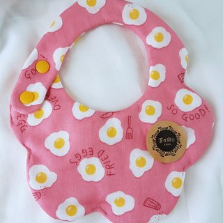 Eight-layer gauze bib saliva towel - Peach powder - Muyu head