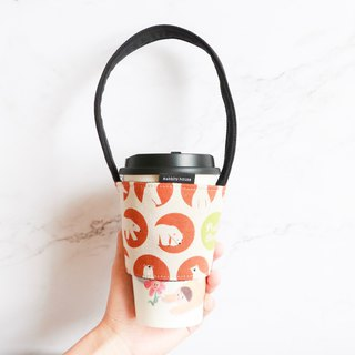 Eco-friendly beverage bag bag - polar bear