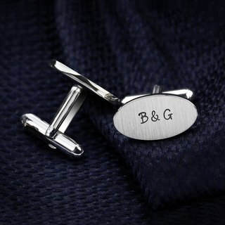 Personalized Cufflinks for Groom – Cufflinks Wedding - Initials Cufflinks