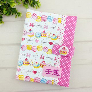 Dessert macarons. Baby Handbook Mom's Manual Cloth Book (Free Embroidery)