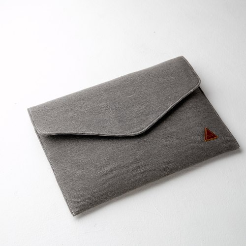 Gray Rustic Envelope Notebook Case