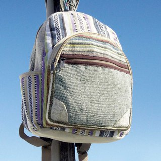 Valentine's Day gift New Year's gift Mother's Day limited a piece of cotton stitching design backpack / shoulder bag / mountaineering bag / patchwork bag / cotton backpack / bag - Moroccan style ethnic minority stripes (small)