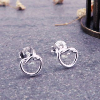 Earrings knot love 925 sterling silver earrings